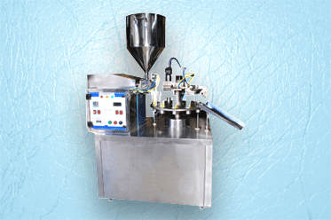 Semi Automatic Double Head Aluminum And Lami Combo Type Tube Filling Machine